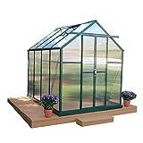 Grandio Element Walk-In Greenhouse Kit (6x8, Flat Mount, Concrete Anchors)