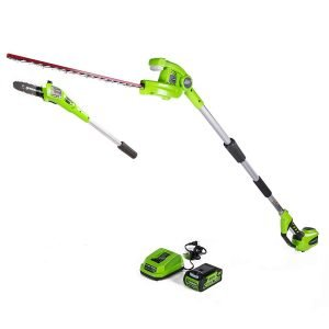 Greenworks Cordless Hedge Trimmer and Pole Saw