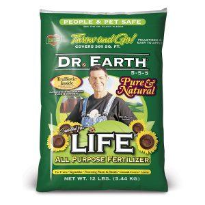 Dr earth fertilizer gives optimal nitrogen, phosphorous, and potassium