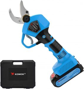 Komok electric shears uses quality materials to make clean cuts