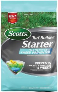 Scotts turf food not only has nutrients, but it prevents weeds
