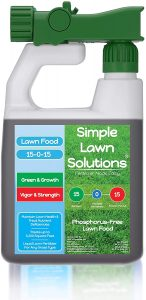 Simple lawn solutions spray fertilizer works well with centipede turf