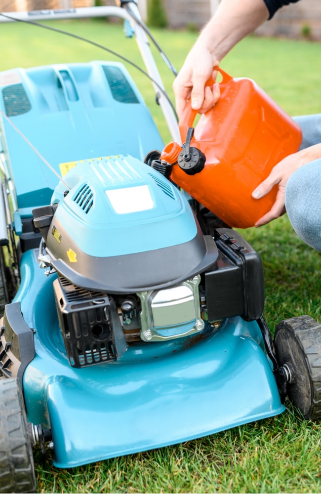 Gas needs to be added to your lawn mower after you drain it.