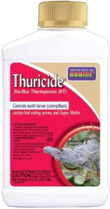 Bacillus thuringiensis is a way that can be used to control worms