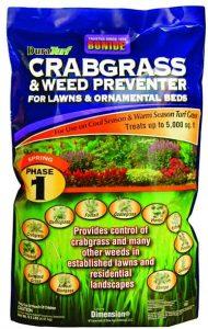 Bonide crabgrass preventer should be used in gardens