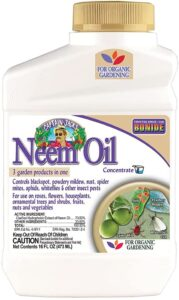 bonide neem oil is an excellent natural control method.
