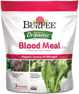 Burpee blood meal is organic and provides proper nutrients to collard greens