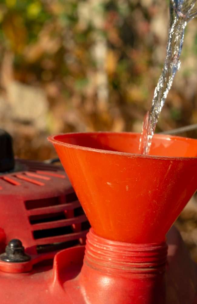 Make sure there is sufficient oil and your lawn mower is well maintained