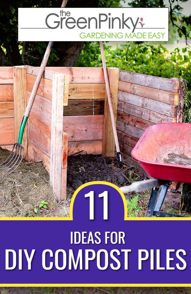 3-sided cedar DIY compost pile for the home garden