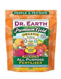 Dr. Earth gets top recommendations for great all purpose fertilizer