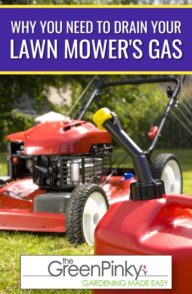 Draining gas from lawn is important to do with correct method