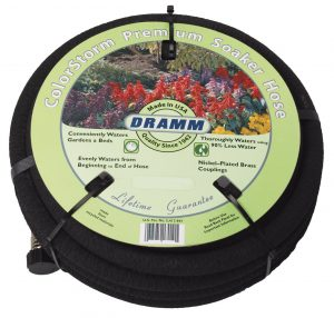 Dramm soaker hose is great for vegetable gardens.