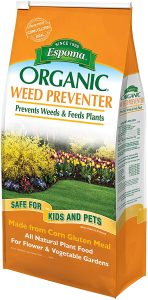 Epsoma organic weed preventer can prevent weeds while being safe for pets