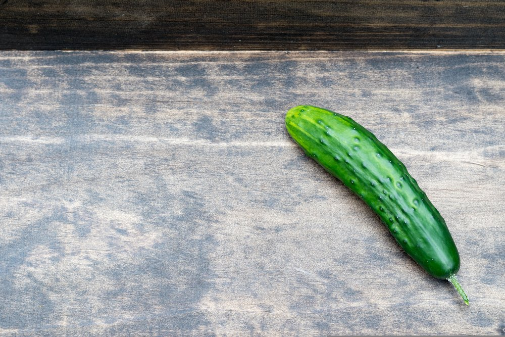 Marketmore cucumber with dark green color