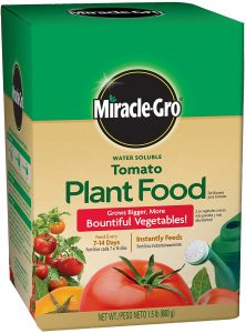 Miracle gro water soluble fertilizer is a good balanced fertilizer for parsley