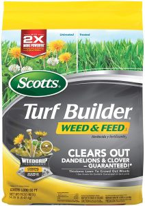 Scotts weed and feed can be used to kill dandelion and strengthen lawn at the same time.