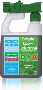 Simple solutions does not have sustained release nitrogen but has the proper NPK ratios