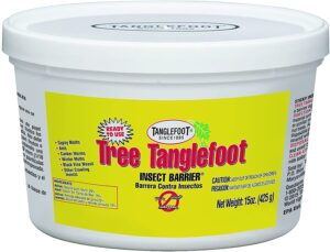 Tanglefoot helps prevent them from pupating and creating more larvae
