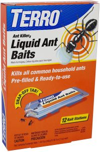 Terro ant bait can be used to get rid of ants