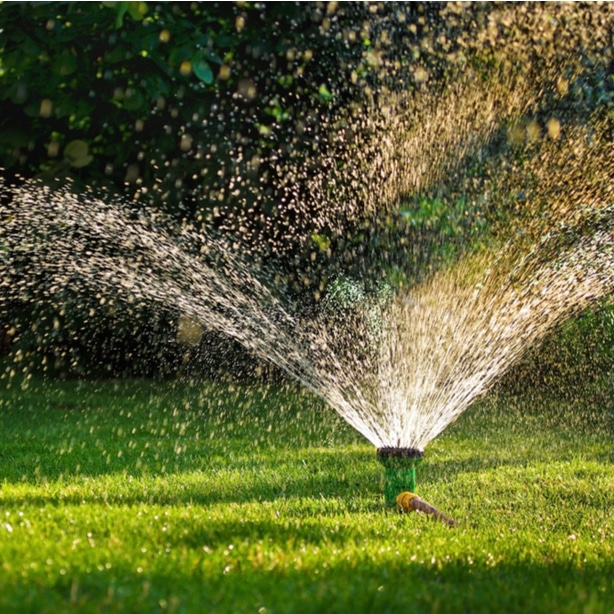 Watering lawn with sprinkler system