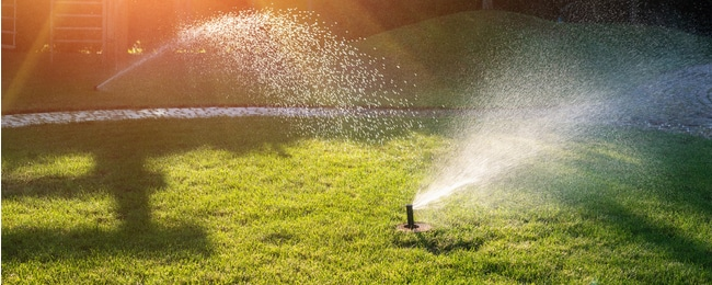 Watering lawn requires a correctly set up sprinkler system