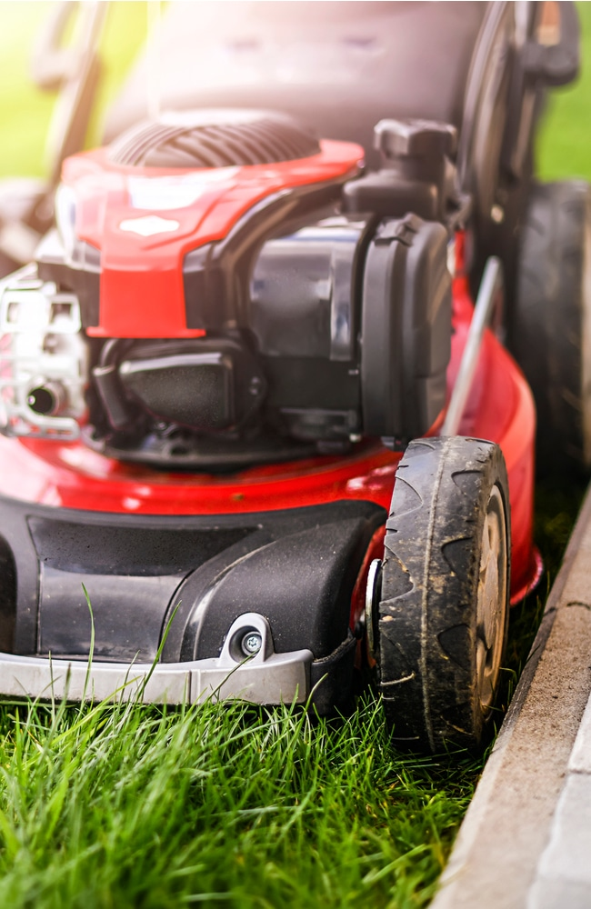 Lawn mower working well with good care